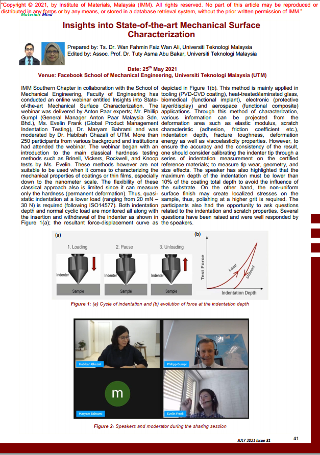 PAGE 41- ARTICLE Insights into State-of-the-art Mechanical Surface Characterization_