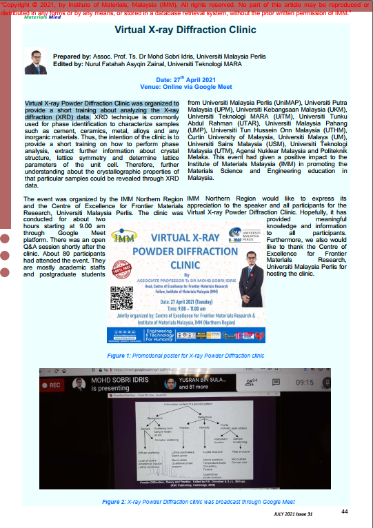 PAGE 44- ARTICLE Virtual X-ray Diffraction Clinic_